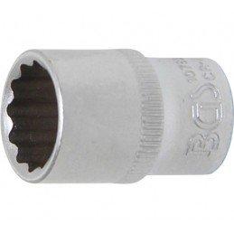 """Llave de vaso corto 1/4"""" 12 caras 12 mm. BGS-10782"""