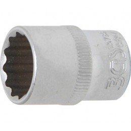 """Llave de vaso corto 1/4"""" 12 caras 13 mm. BGS-10783"""