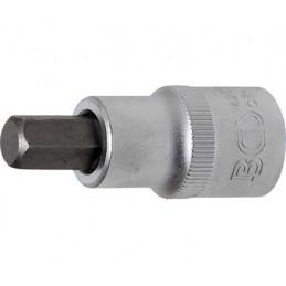 """Llave de vaso 1/2"""" con punta Allen Largo 53mm. 10mm."""