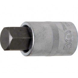 """Llave de vaso 1/2"""" con punta Allen Largo 53mm. 17mm."""