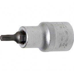 """Llave de vaso 1/2"""" con punta Torx Largo 53mm. T25"""