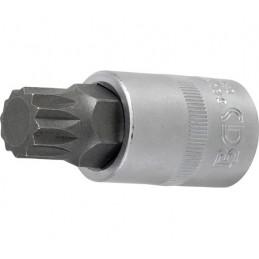 """Llave de vaso 1/2"""" con punta XZN Largo 53mm. M17"""