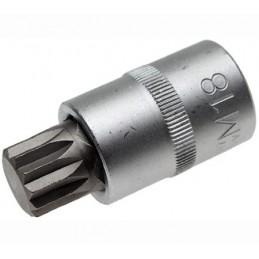 """Llave de vaso 1/2"""" con punta XZN Largo 53mm. M18"""