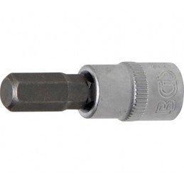 """Ponta de caixa, entrada 6,3 mm (1/4 """")  soquete sextavado 7 mm"""