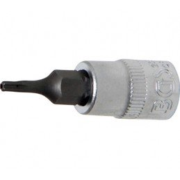 "Llave de vaso 1/4"" con punta Torx Inviolable TH8"