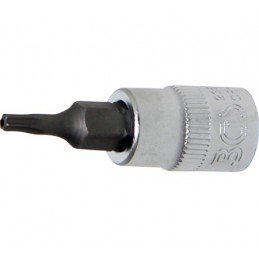 "Llave de vaso 1/4"" con punta Torx Inviolable TH10"