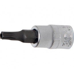 "Llave de vaso 1/4"" con punta Torx Inviolable TH25"