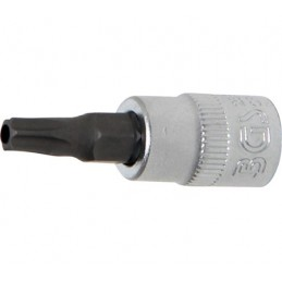 "Llave de vaso 1/4"" con punta Torx Inviolable TH27"