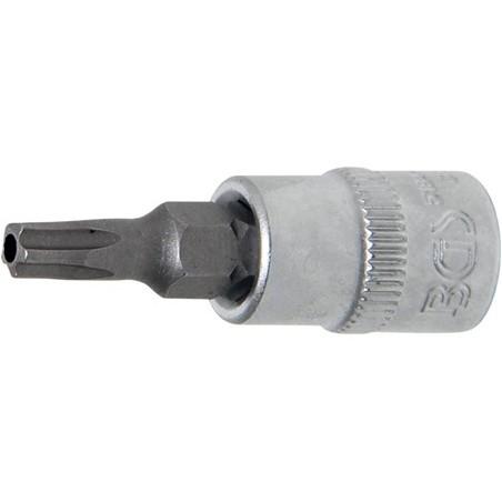 """Chave de caixa 1/4"""" com bit torx furado Plus TS25"""