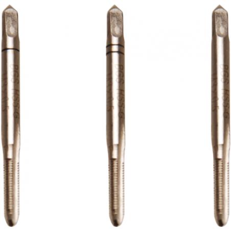 Juego 3 piezas de machos de roscar M4x0.7 inicial, central y acabado