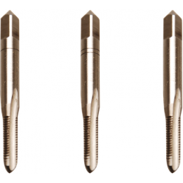 Juego 3 piezas de machos de roscar M5x0.8 inicial, central y acabado