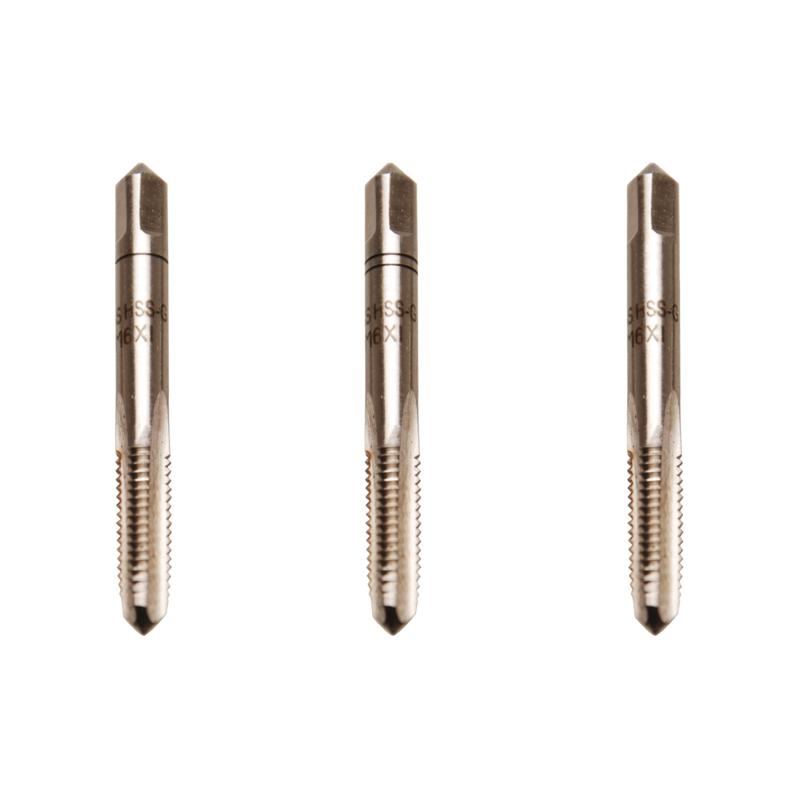 Juego 3 piezas de machos de roscar M6x1.0 inicial, central y acabado