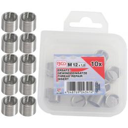 Jogo 10 inserções de peças de reposição M5x0.8