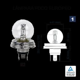 Lámpara Foco Europeo R-2 12V 40V/45W (P45t ASY)