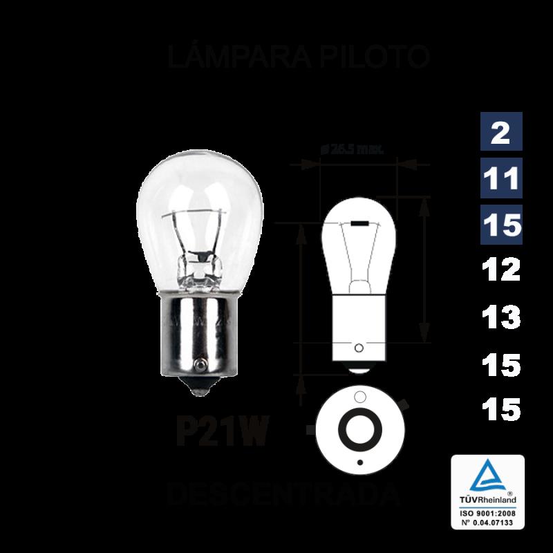 Lámpara 1 Polo P-21 12V 21W Descentrada (BAU15s)