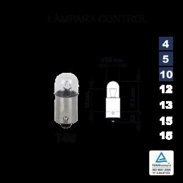 Lámpara Control T4W 12V 4W (BA9s)