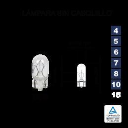 Lámpara sin casquillo W-5 12V 5W (W2,1x9,5d)