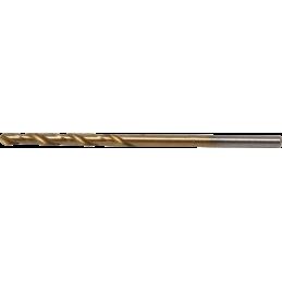 Broca espiral HSS-G nitrurado de titanio 1 mm.