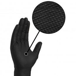 Guante desechable nitrilo negro diamantado Talla L/9