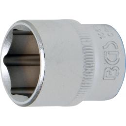 """Llave de vaso corto 3/8"""" 6 caras Pro Torque® 19mm. BGS-10619"""