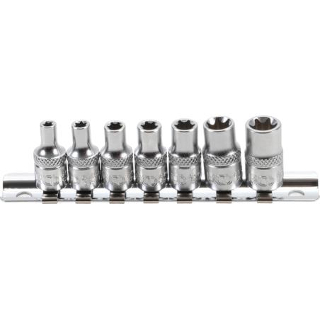 """Juego llaves vaso E-Torx 1/4""""  E4 - E11  7 piezas"""