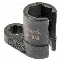 Llave con ventana para inyectores y sonda lambda, 22 mm.