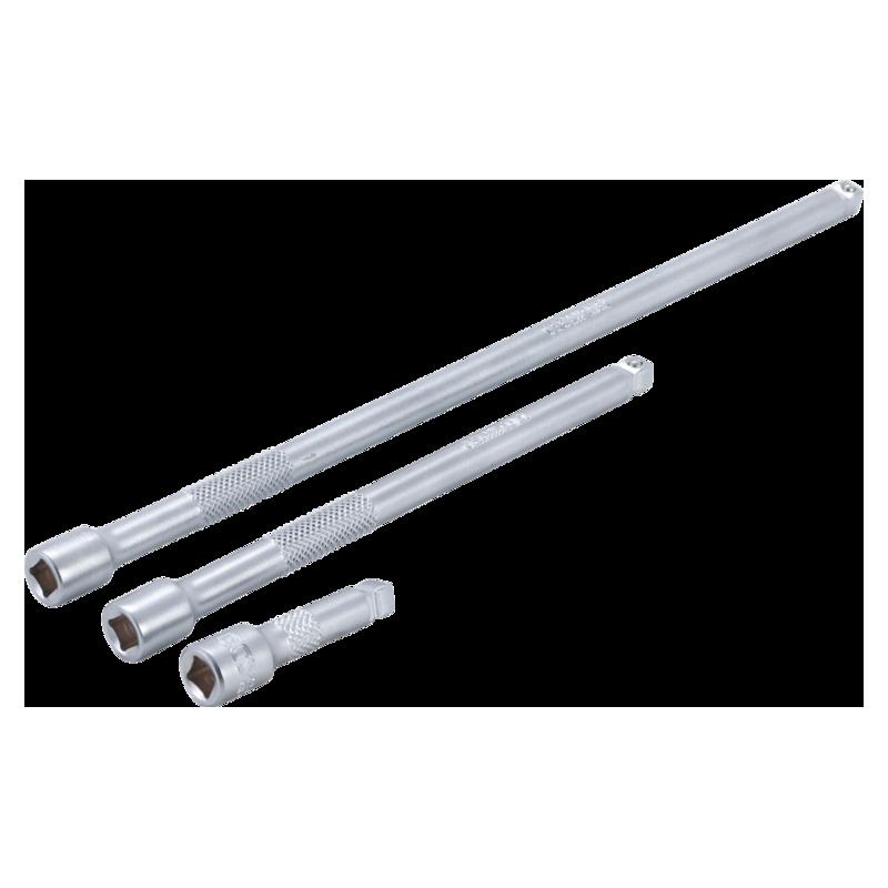 3 piezas | 375 // 450 // 600 mm 3//8 Juego de extensiones BGS 2236 10 mm