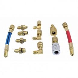 Kit de adaptadores para conexiones de carga de aire acondicionado R12 R134A