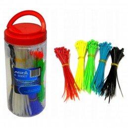 600 Pzs de bridas nylon de colores