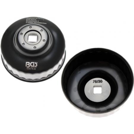 Cazoleta para filtros de aceite | 30 caras | Ø 76 mm | para Ford Motorkraft