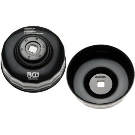 Cazoleta para filtros de aceite | 15 caras | Ø 80 - 82 mm | para Honda, Mazda, Nissan, Subaru, Toyota